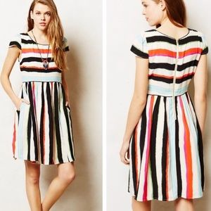 Anthropologie Maeve Peralta Striped Dress Size 10